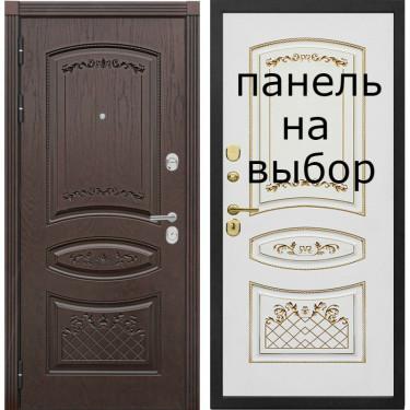 Входная дверь Комфорт Венеция ( Дуб коньяк с чёрной патиной)