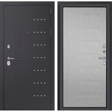 Входная дверь Дверной Континент   Тренто - 3К  (Серый графит / Дуб белый):