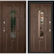 Лион 3К с окном и ковкой (Орех тёмный / Орех тёмный):
