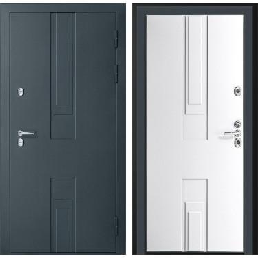 Входная дверь Дверной Континент Тоскана 3К  с терморазрывом  (Силк Титан / Белый):