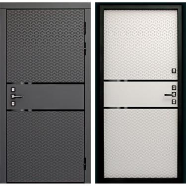 Входная дверь Дверной Континент Диаманте 3К (Графит софт / Софт Айс):