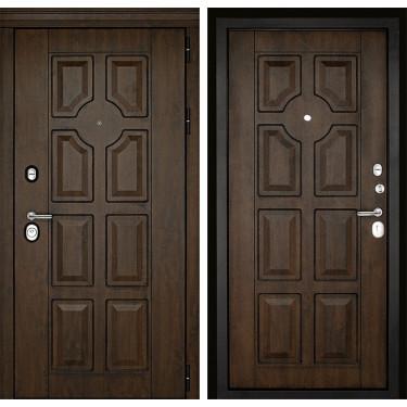 Входная дверь Дверной Континент Милан 3К (Орех тёмный / Орех тёмный):