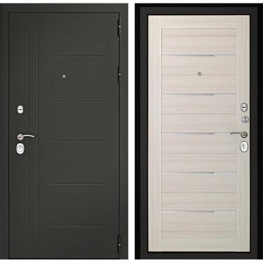Входная дверь Дверной Континент Сити-С 3К (Серый графит / Дуб белёный):