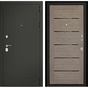 Входная дверь Дверной Континент Сити-С 3К (Серый графит / Лиственница серая):