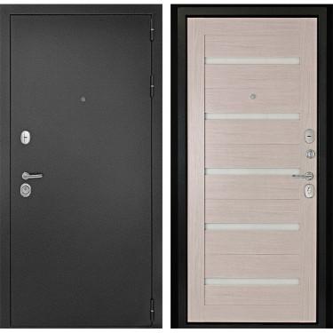 Входная дверь Дверной Континент  Гарант-1 3К  Царга (Серебристый антик / Лиственница):