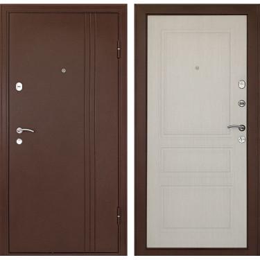 Входная дверь Дверной Континент Турин 3К (Медный антик / Сандал белый)