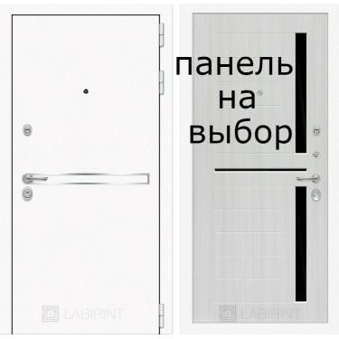 Входная дверь Лабиринт- Лайн WHITE -Внутренняя панель на выбор