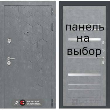 Входная дверь Лабиринт-BETON-Внутренняя панель на выбор