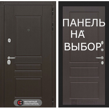Входная дверь Лабиринт- Мегаполис-Внутренняя панель на выбор