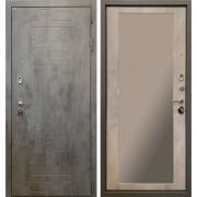 Входная дверь Ратибор Тетрис 3К Зеркало Бетон светлый