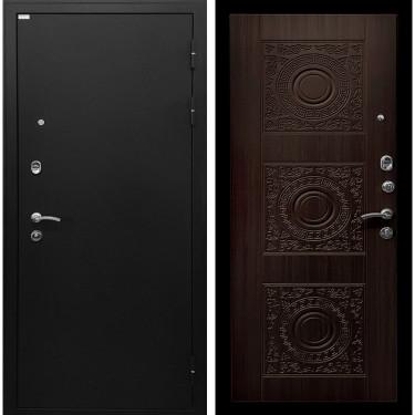 входная металлическая дверь Ратибор Спарта (Чёрный шелк / Венге):