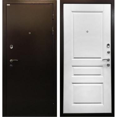Входная металлическая дверь Ратибор Троя 3К (Медный антик / Лиственница беж):