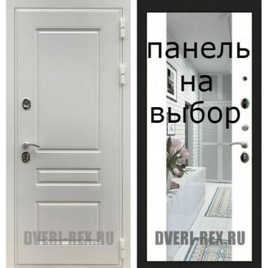 Входная дверь  Рекс-ПРЕМИУМ Н БЕЛАЯ-Внутренняя панель на выбор