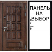 Дверь уличная Центурион, цвет лиственница мореная + черная патина