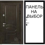 Дверь входная уличная Премиум WF, цвет лиственница мореная + черная патина