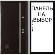 Дверь входная уличная Норд 2, цвет коричневый муар