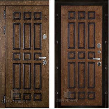 Дверь уличная Базилика, цвет полисандр + черная патина
