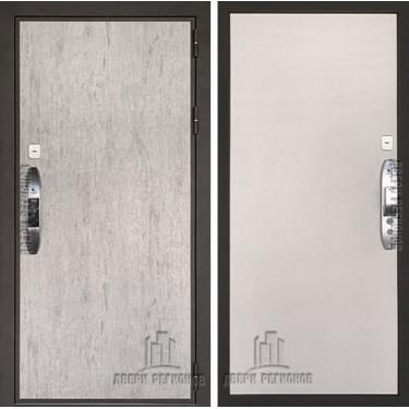 Дверь входная электронная взломостойкая Новатор, цвет серый шпат, панель - новатор цвет серый текстиль
