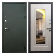 Входная дверь Кондор Престиж Беленый Дуб с зеркалом