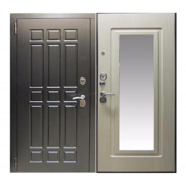 Входная дверь СУПЕР ТРИУМФ ЗЕРКАЛО БЕЛЕНЫЙ ДУБ